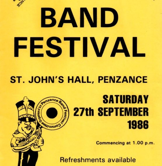 Cornish Brass Band Contests – Penzance Band Festival – Festival of Brass 1980s and 1990s