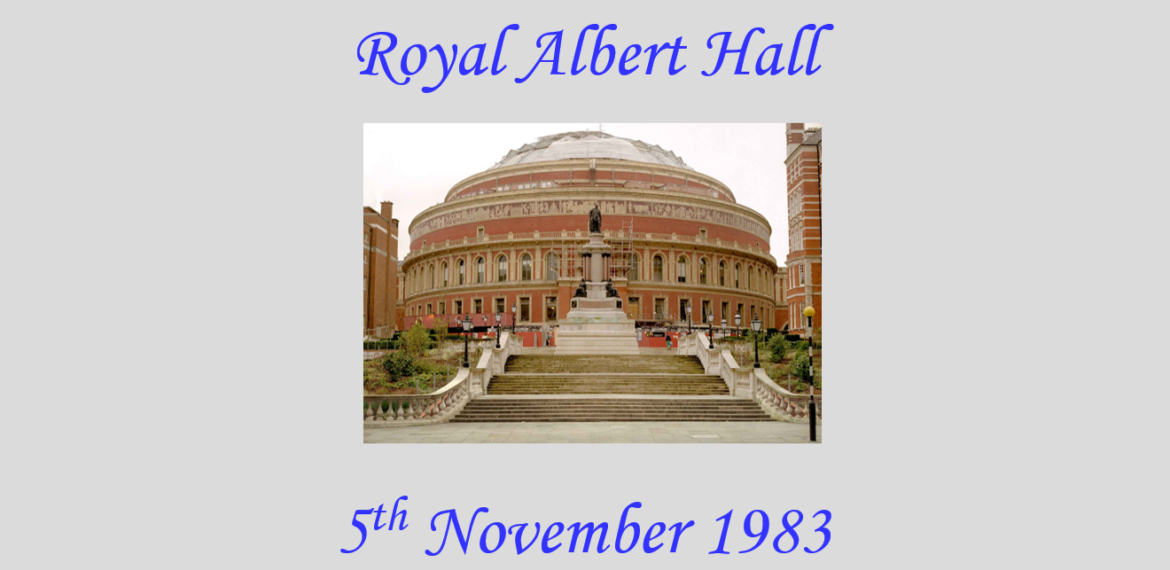 1000 Cornish Male Voices – Royal Albert Hall 1983
